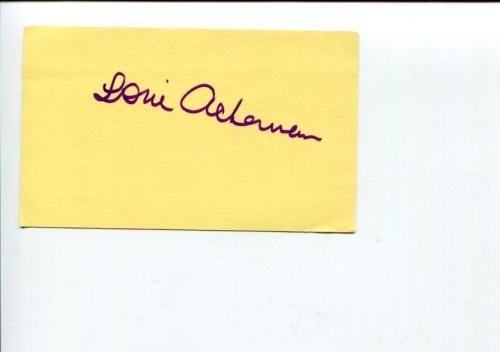 Loni Ackerman Broadway Theate Actress Evita Cats The Magic Show Signed Autograph