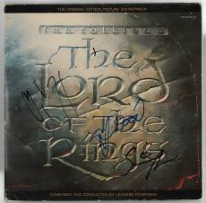 Lord of The Rings cast signed autographed album Mortensen Wood Astin Beckett BAS