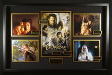 LOTR Return of the King Cast Signed Home Theater Display