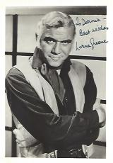 """LORNE GREENE as BEN CARTWRIGHT in the TV Series """"BONANZA"""" Creases on Photo - Inscribed to Fan (Passed Away 1987) Signed 5x7  B/W Photo"""