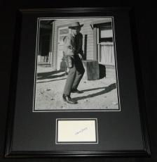 Lorne Greene Signed Framed 16x20 Photo Poster Display JSA Bonanza B