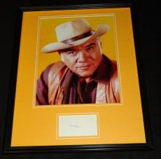 Lorne Greene Signed Framed 16x20 Photo Poster Display JSA Bonanza C