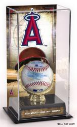 Los Angeles Angels of Anaheim Game-Used Baseball and Sublimated Display Case