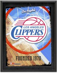 """Los Angeles Clippers Team Logo Sublimated 10.5"""" x 13"""" Plaque"""