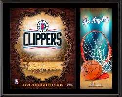 """Los Angeles Clippers Sublimated 12"""" x 15"""" Team Logo Plaque"""