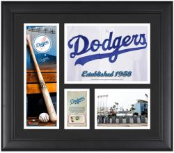 """Los Angeles Dodgers Team Logo Framed 15"""" x 17"""" Collage with Piece of Game-Used Ball"""
