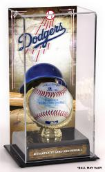 Los Angeles Dodgers Game-Used Baseball and Sublimated Display Case