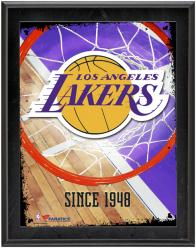 """Los Angeles Lakers Team Logo Sublimated 10.5"""" x 13"""" Plaque"""