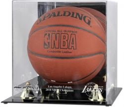 Los Angeles Lakers 2010 NBA Finals Champions Golden Classic Logo Basketball Display Case - Mounted Memories