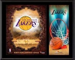 """Los Angeles Lakers Sublimated 12"""" x 15"""" Team Logo Plaque"""