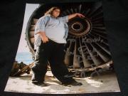 LOST Jorge Garcia Auto Signed Vintage Hugo Hurley Reyes 8x10 Photo RARE C