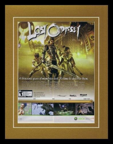 Lost Odyssey 2008 XBox Framed 11x14 ORIGINAL Vintage Advertisement