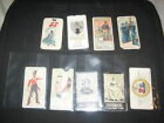 Lot (9) Vintage Original Tobacco Assorted Collectible Trading Cards Rare Nice