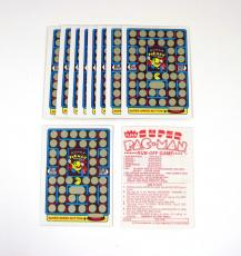 Lot of (10) 1980 Fleer Pac-Man Stickers Rub-Off Game Cards Vers B Red Back Mint