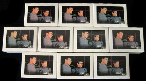 Lot of (10) 1996 Skybox Star Trek The Next Generation Season 5 Set (#421-528)