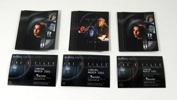 Lot of (10) 2001 Inkworks The X-Files Seasons 4 & 5 Promo Card Set (3) Nm/Mt