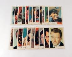 Lot of (22) 1955 Kane Products Ltd Film Stars Cards ^Avg Ex ^ John Wayne