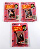 Lot of (3) 1984 Topps Michael Jackson Factory Card Sets ^ 33 Cards Each