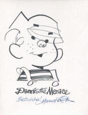 Lot Of 4 Hand Signed Original Dennis The Menace Drawings  Ron Ferdinand+hamilton