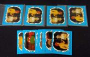 Lot of (5) 1989 Topps Teenage Mutant Ninja Turtles Series 2 Sticker Set (11)