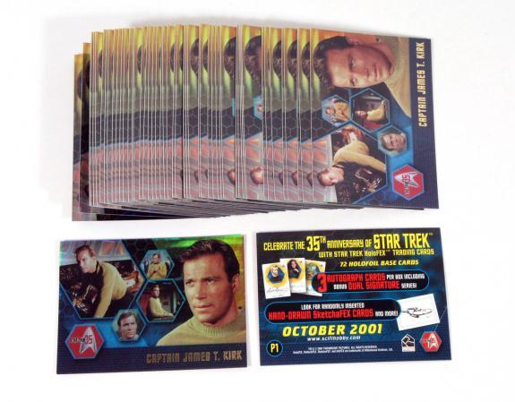 Lot of (50) 2001 Rittenhouse Star Trek 35th Anniversary HoloFEX (P1) Nm/Mt