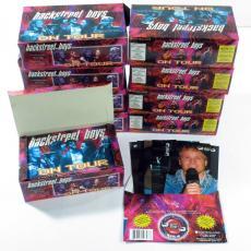 Lot of (9) 2000 Panini Backstreet Boys On Tour Photo Card Box ^ 36 Packs per Box