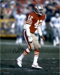 """LOTT, RONNIE AUTO """"HOF 00"""" (49ERS/RED STANCE) 16X20 PHOTO - Mounted Memories"""
