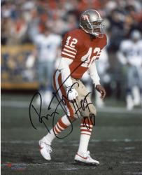 "LOTT, RONNIE AUTO ""HOF 00"" (49ERS/RED STANCE) 8X10 PHOTO - Mounted Memories"