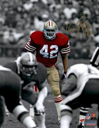 "LOTT, RONNIE AUTO ""HOF 00"" (49ERS/SPOTLIGHT) 11X14 PHOTO - Mounted Memories"