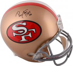 Ronnie Lott San Francisco 49ers Autographed Throwback Replica Helmet with HOF 00 Inscription