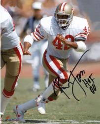 "LOTT, RONNIE AUTO ""HOF 00"" (49ERS/WHITE RUNNING) 8X10 PHOTO - Mounted Memories"