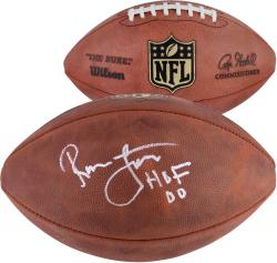 Ronnie Lott San Francisco 49ers Autographed Duke Pro Football with HOF 00 Inscription