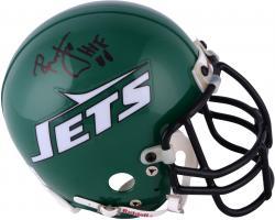 Ronnie Lott New York Jets Autographed Throwback Mini Helmet with HOF 2000 Inscription