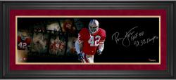 Ronnie Lott San Francisco 49ers Framed Autographed 10'' x 30'' Filmstrip Photograph with Multiple Inscriptions-#1 of Limited Edition of 42 - Mounted Memories