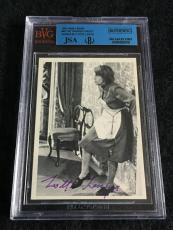 Lotte Lenya Signed 1965 James Bond From Russia With Love Card Auto Jsa/bvs Bgs