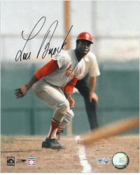 "Lou Brock St. Louis Cardinals Autographed 8"" x 10"" Photograph - Mounted Memories"
