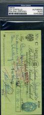 Lou Costello Abbott Psa/dna Cert Hand Signed Check Authentic Autograph