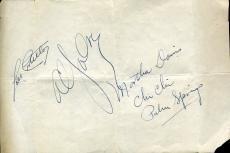Lou Costello Al Jolson Jsa Certed Signed Album Page Autograph Authentic
