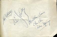 Lou Costello Al Jolson Jsa Certed Signed Album Page Autograph Authentic