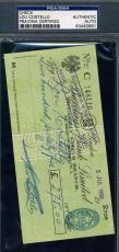 Lou Costello Hand Signed Psa/dna Coa Check Authentic Autograph