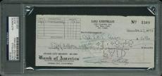 Lou Costello Signed 3X7 1945 Check Autographed PSA/DNA Slabbed