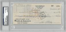 Lou Costello Signed Authentic Autographed Check Slabbed PSA/DNA #83463999