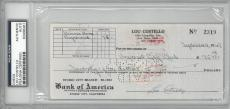 Lou Costello Signed Authentic Autographed Check Slabbed PSA/DNA #83498461