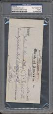 Lou Costello Signed Check PSA/DNA Certified Authentic Auto Autograph *4026