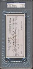 Lou Costello Signed Check PSA/DNA Certified Authentic Auto Autograph *9383