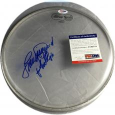 Lou Diamond Phillips Hand Signed Autographed Remo Drum head Drumhead PSA/DNA 754