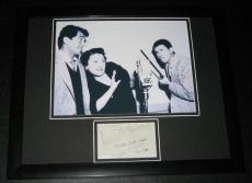 Louella Parsons Signed Framed 11x14 Photo Display JSA w/ Dean Martin & J Lewis