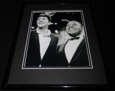 Louis Armstrong & Dean Martin Framed 8x10 Photo Poster