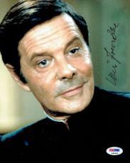 Louis Jourdan Signed James Bond Authentic Autographed 8x10 Photo PSA/DNA #P45459