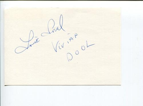 Louise Sorel Days of Our Lives Signed Autograph